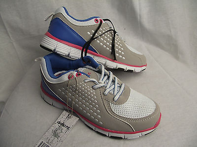 BNWT Older Girls Ladies Sz 10 Rivers Pink Grey and White Athletic Jogger Shoes