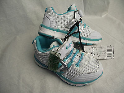 BNWT Little Girls Sz 6 Rivers Doghouse Cute Pink Lace Up Athletic Jogger Shoes