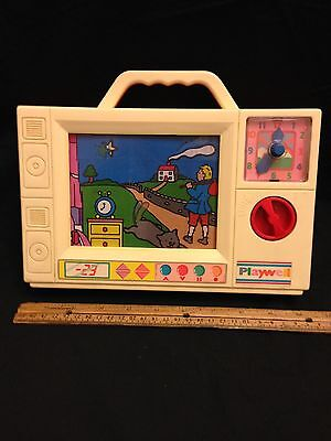 Vintage Playwell Musical Wind Up Television GUC
