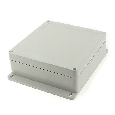 190mm X 180mm 70mm Plastic Outdoor Electrical Enclosure Junction Box Case Gray