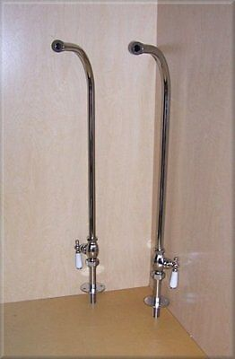 freestanding WATER PIPES for claw foot tub - CHROME