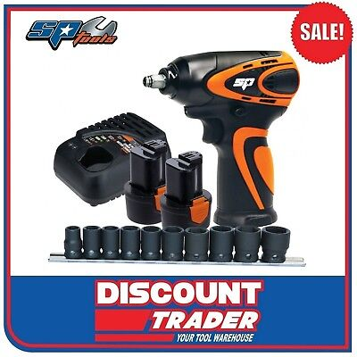 "SP Tools Cordless Lithium-Ion 12V 2.0Ah 3/8""Dr Mini Impact Wrench Kit - SP81114"