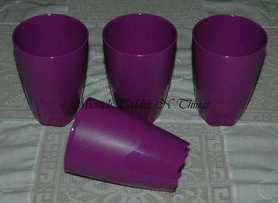 Tupperware Open House Purple Set Of Four Large Tumblers Cups