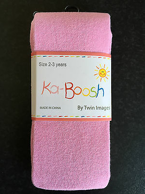 BNWT Ka-Boosh Brand Girls Age 2-3 Years Pastel Pink Thick Footed Style Tights