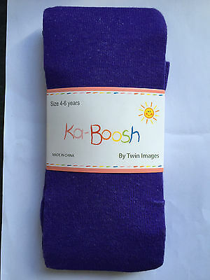 BNWT Ka-Boosh Brand Girls Age 4-6 Years Lovely Purple Thick Footed Style Tights