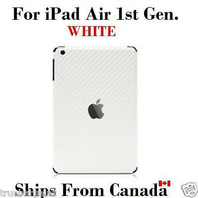 White Carbon Fiber Back Vinyl Wrap Sticker Skin Cover for Apple iPad Air