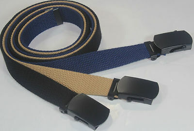 Adjustable Toddler Kids Canvas Web School Uniform Belt Boys Girls Black Buckle