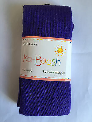 BNWT Ka-Boosh Brand Girls Age 3-4 Years Lovely Purple Thick Footed Style Tights