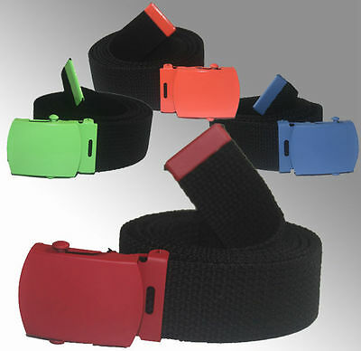 Adjustable Children Canvas Web School Uniform Belt Kids Boys Girls Color Buckle