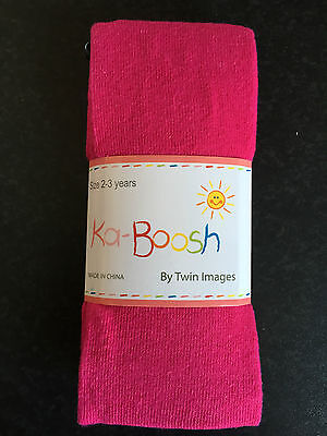 BNWT Ka-Boosh Brand Girls Age 2-3 Years Hot Pink Thick Footed Style Tights