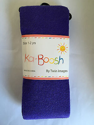 BNWT Ka-Boosh Brand Girls Age 1-2 Years Cute Purple Thick Footed Style Tights