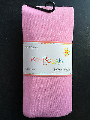 BNWT Ka-Boosh Brand Girls Age 6-8 Years Pastel Pink Thick Footed Style Tights