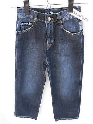 BNWT Boys Sz 12 YCC Designer Dark Denim Worn Look Jeans