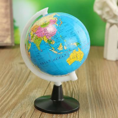 World Atlas Map Globe 8.5cm & Swivel Stand Educational Toy Kid Gift Home School