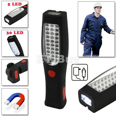 30+5 LED Rechargeable Flexible Inspection Lamp Torch Magnetic Durable Work Light