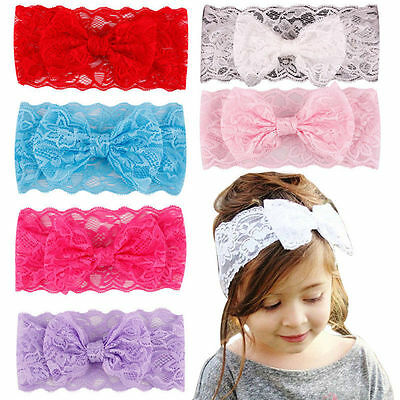 Toddler Girls Kids Baby Headband Toddler Lace Bow Flower Hair Band Accessories