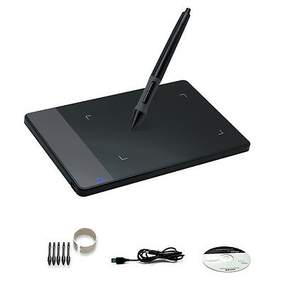 """Huion 420 4""""x2.23"""" Graphics Tablet Design Art Drawing with Pen for Windows Mac"""
