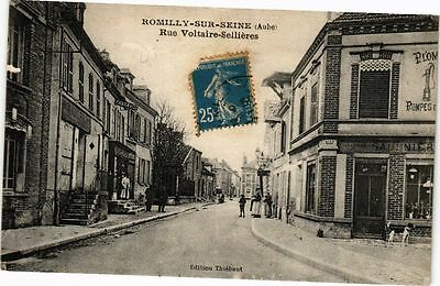 CPA ROMILLY-SUR-SEINE - Rue Voltaire-Sellieres (179389)