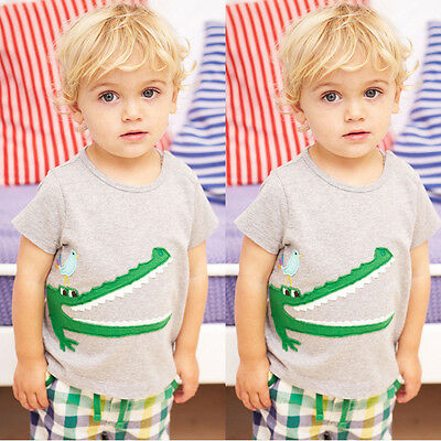 Kids Baby Boy Toddler Summer Short Sleeve T-Shirt Tops+Pants Outfit Sets Clothes