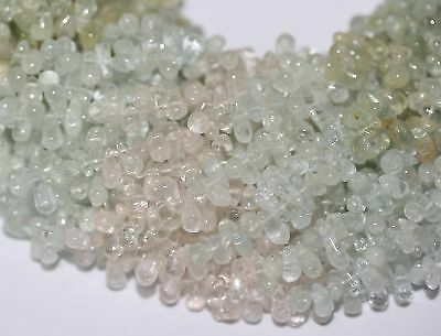 "14"" Beryl Aquamarine Heliodor Morganite Drop  Beads"