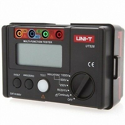 UNI-T UT526 Electrical Insulation Tester1000V 500MΩ RCD Test Continuity VAC/DC