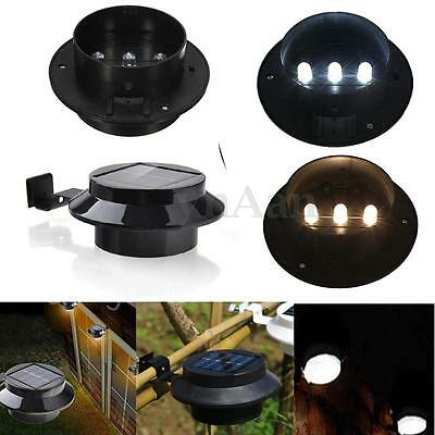 3 led solaire lampe eclairage s curit etanche pour maison jardin cour ext rieur eur 5 78. Black Bedroom Furniture Sets. Home Design Ideas