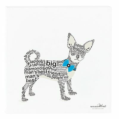 "Chihuahua Wall Decor / Picture - Wild About Words 12"" x 12"""