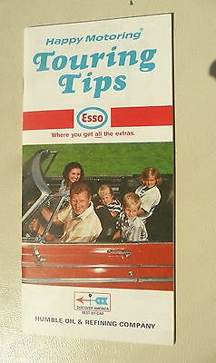 1970 Touring Tips How to Read a map Esso oil gas 40 pages