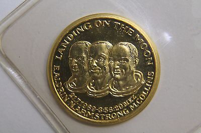 Landing On The Moon Commemorative Gold Coin 22k Gold #2