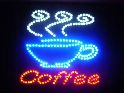 Ultra Bright  LED Neon Light Animated Coffee CUP Cafe Open Business Sign LB64