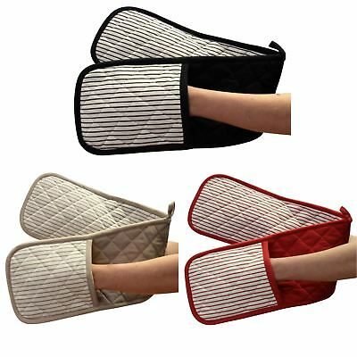 Ideal Textiles™ Windsor Stripe Double Oven Gloves Heat Resistant Cotton Mitt
