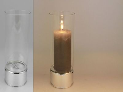 12 x Clare Glass Candle Holder 25cm Bulk Wholesale lot reduced to clear