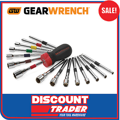 GearWrench 16 Pc. Ratcheting Nut Driver Set SAE / METRIC - 8916D