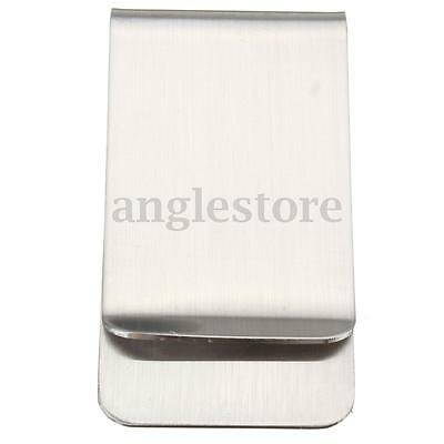 Large Stainless Steel Pocket Wallet Credit ID Card Cash Money Clip Clamp Holder