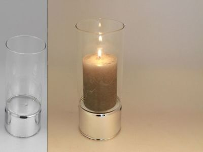 12 x Clare level Glass Candle Holder 20cm Bulk Wholesale lot reduced to clear