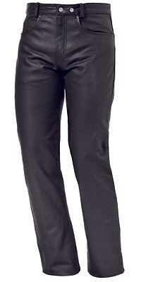 """New Mens Motorcycle Harley Style Lined Tough Leather Jean/pants 36"""" Waist"""