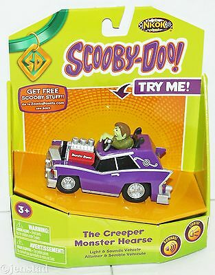 The Creeper Monster Hearse Wb Scooby Doo Light & Sounds Sd Vehicle Nkok 2012