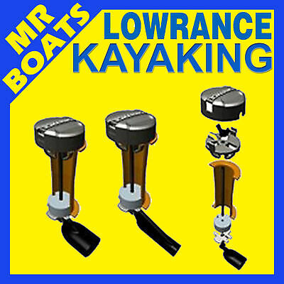 LOWRANCE KAYAK TRANSDUCER ✱ SCUPPER MOUNT ✱ Suits Hook Mark Elite 4, 5, 7, HDS