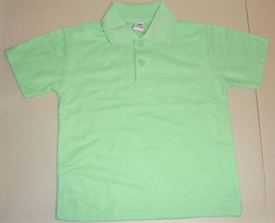 NEW school uniform polo shirt unisex Lime size 5 to 16