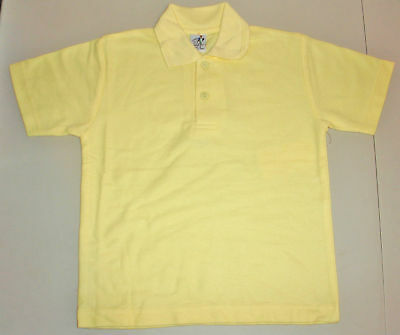 NEW school uniform polo shirt unisex Lemon size 5 to 16
