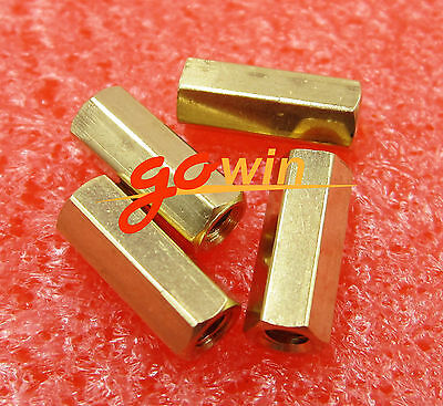10pcs M3 12 mm Hexagonal net nut Female brass Standoff/Spacer New
