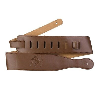 Brown Adjustable Soft Leather Thick Strap for Electric Acoustic Guitar Bass new