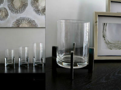 6 x Hurricane Candle HolderGlass & Metal 18cm Bulk Wholesale lot reduced to clea