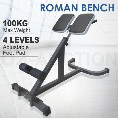 Roman Chair Fitness Hyper Extension Sit Up Crunches Back Training Home Gym Bench