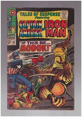 Tales of Suspense # 94  First appearance of Modok !  grade 5.5 scarce book !