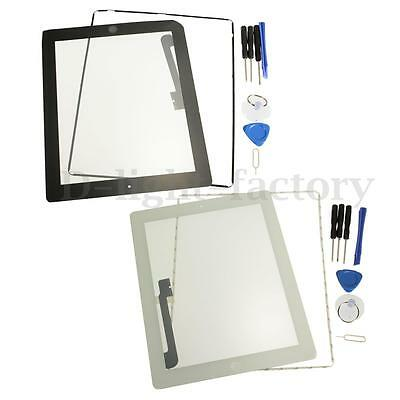 For iPad 3/4 Replacement Screen Touch Digitizer +Mid Frame +Home Button &Tools