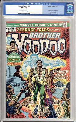 Strange Tales # 169  First appearance of Brother Voodoo !  CGC 9.2 scarce book !