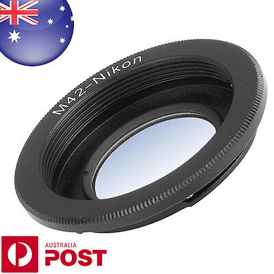 Adapter For M42 Screw Lens to Nikon Camera Infinity Focus with glass - Z363