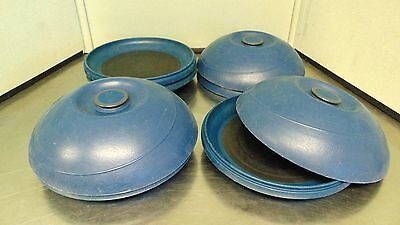 "4 Aladdin Temp Rite Plates & Covers Onyx Blue 5,603,858 ""Heat on Demand""  S223"
