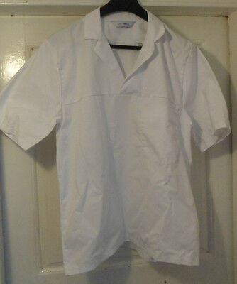 New Chefs Tunic Care Worker Tops White Small